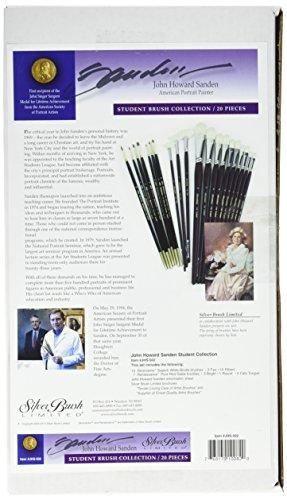 Silber Pinsel jhs-502John Howard Sanden Hochformat Student Pinsel-Set, 20Pro Pack