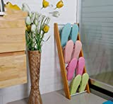 CHGDFQ Zapatero Estante Simple Salón Zapatillas de Madera de múltiples Capas montadas en la Pared Zapatero
