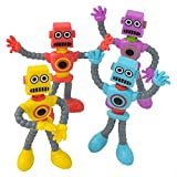 3.5' Bendable Robot, Assorted Colors and Styles, one dozen