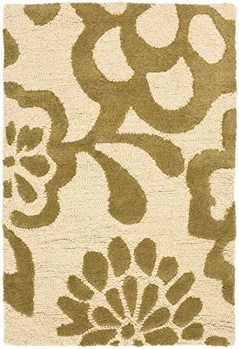 Safavieh Soho Collection SOH837A - Alfombra de lana de alta calidad, hecha a mano, 2 x 3 pies, color beige y verde