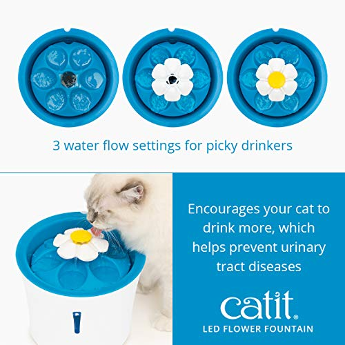 Catit Senses 2.0 Flower Fountain, Cat Drinking Water Fountain