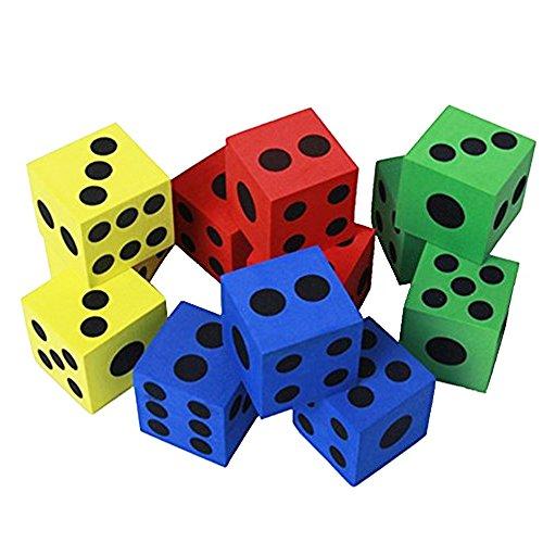 Nicedeal Generic - 12pzas Espuma Que juegan los Dados - Colores aleatorios Juguetes para NIÑAS