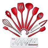 ACEHE Utensilios de cocina de silicona, antiadherentes, juego de utensilios de cocina de silicona, juego de 10 utensilios de cocina antiadherentes, utensilios de cocina de silicona
