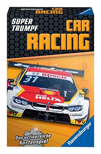 Ravensburger Kinderkartenspiele 20696 - Kartenspiel, Supertrumpf Car Racing, Quartett und Trumpf-Spiel für Technik-Fans ab 7 Jahren
