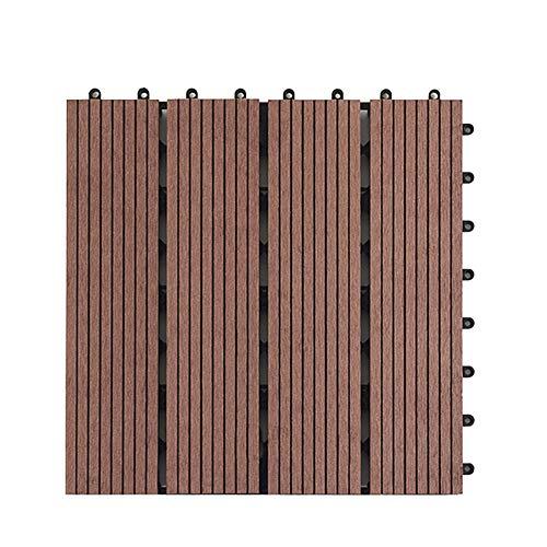 ningdeck WPC Anti-Rutsch-Fliesen für Terrasse, Balkon, Dachterrasse, Whirlpool-Fliesen, Bodenbelag, nicht null, schokoladenbraun, Free Size