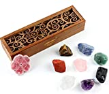♥8 natural rough chakra stones: Dongling jade, red jasper, tiger's eye stone, amethyst, obsidian, Pink crystal,lapis lazuli and transparent crystal.which with the function of powerful stone energy, enhance meditation, and the recovery of body and min...
