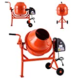 JAXPETY 2-1/5cuft Portable Electric Concrete Cement Mixer...