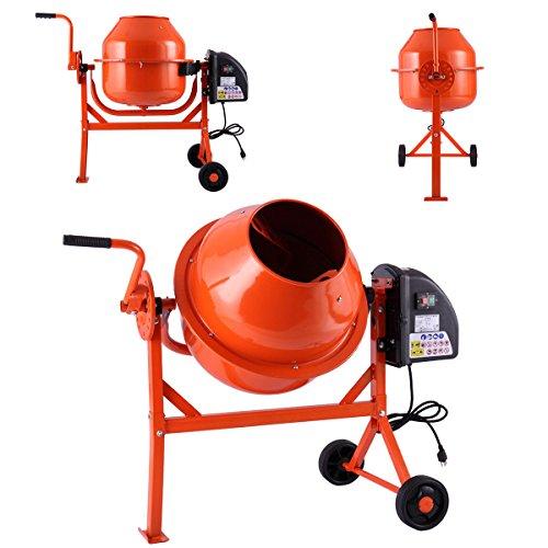 Mobile Electric Cement Mixer Drum For Concrete Plaster Grouting Machine 63 L