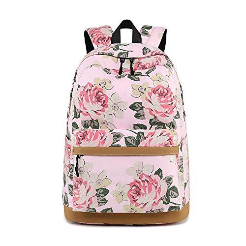 BAACD Junge Mädchen Rucksack USB Reiserucksack Universitätscampus Student Schultasche Leichter wasserdichter Picknickrucksack mit großer Kapazität Schultasche-Pink