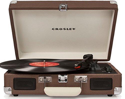 Crosley Cruiser Deluxe Vintage 3-Speed Bluetooth Suitcase Turntable