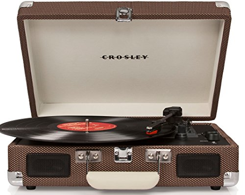 Crosley CR8005D-TW Tocadiscos Portátil Bluetooth, Color Café