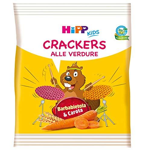 Hipp - Crackers Alle Verdure Bio, Gusto Barbabietola E Carota, Cotti Al Forno, 7 Confezioni da 25 G - 174.9 g