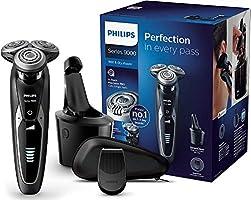 Philips Elektrisch Scheerapparaat Series 9000 - Nat en droog scheren - Scheert extra glad - 3 Comfortstanden - Opzetbare...