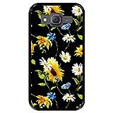 Hapdey Funda Negra para [ Samsung Galaxy J5 2015 ] diseño [ Patrón Floral, Flores Multicolores 2 ] Carcasa Silicona Flexible TPU
