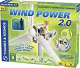 Thames & Kosmos Wind Power 2.0 Science Experiment Kit | Build Wind-Powered Generators to Energize Electric Vehicles | 3-Foot-Tall Long-Bladed Turbine | Experiments in Renewable Energy