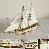 Guajave Maßstab 1:100 Mini Holz Segelboot Schiff Kit Boot Spielzeug Geschenk DIY Modell Dekoration -