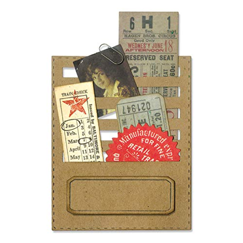 Sizzix, Multi Color, Thinlits Die Set , Stitched Slots by Tim Holtz, 2 Pack, One Size, 2 Count