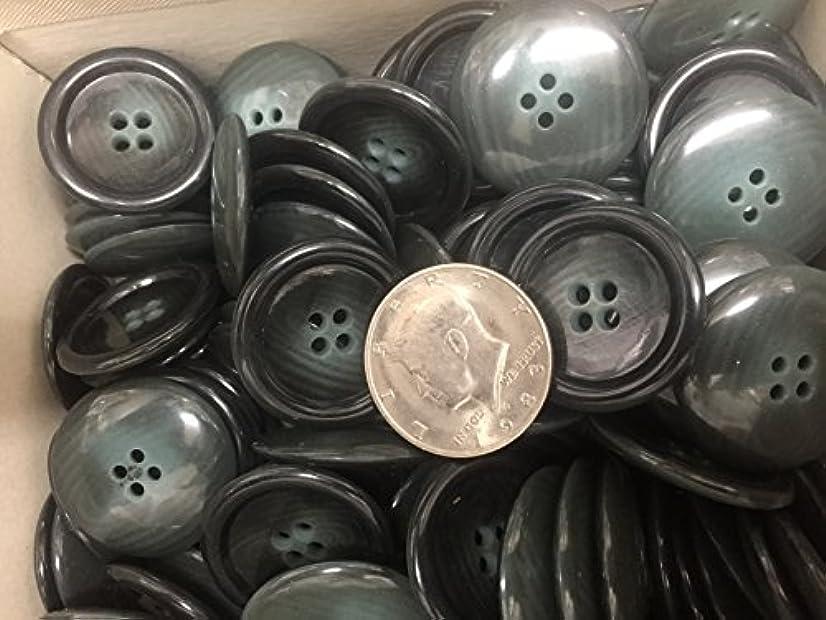 144 HORN TAILORED BUTTON,ORGAENO GREEN COLOR # 522 LIGNE 50-1-1/4