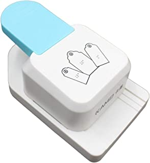 HETUI DIY Tag Puncher Bookmark Puncher Puncher Gift Tag Paper Puncher Paper Punch (Bleu)