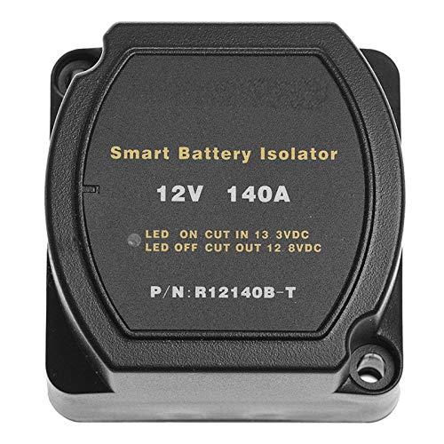 Lenere Relé sensible de 12 V 140 A, carga automática relé de batería para coche