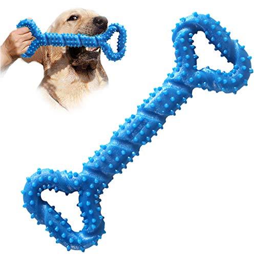 AEITPET Gioco cane resistente, Giocattoli per cani da Masticare per cani masticatori aggressivi Mais, indistruttibili, Giocattolo Gomma naturale non tossico per cani di taglia media Gioco cani (Blu 2)