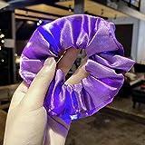 N/A Led Brillante Luminoso Colorido aro de Pelo Accesorios para el Cabello Chica Creativa Cuerda de Pelo de Alta Elasticidad 05