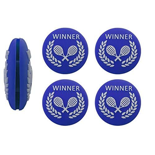 G-Lueck Juego de 4 amortiguadores de vibración para tenis, color azul
