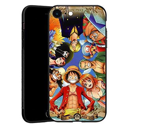 Carcasa para iPhone 6/6S, One Piece – The Straw Hat Pirates – Funda de TPU ultrafina negra para iPhone 6/6S