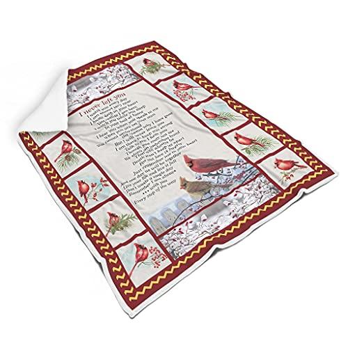 OwlOwlfan Red Cardinal - Manta de cama decorativa súper suave y cálida y transpirable para viajes, oficina, dormitorio familiar blanco 127 x 152 cm