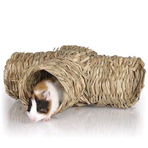 Natur Spielzeug Nager Meerschweinchen Hamster Tunnel Schilf Haus Nest Höhle (06158)