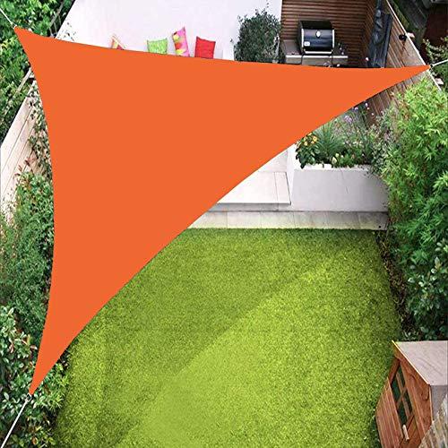 YTQ Vele Parasole A Vela Triangolare Impermeabile per Tenda da Sole per Giardino, Patio, Piscina All'aperto con Occhiello E Tre Corde, Colori Multipli 3.6x3.6x3.6M(Color:Arancia)