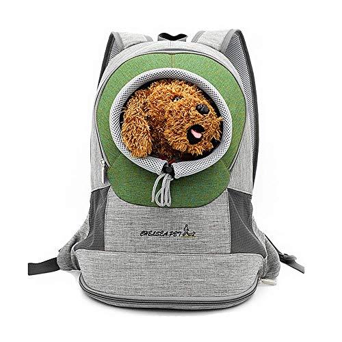 PETCUTE Mochila para Perros pequeños Bolsa Transporte de Perros Gatos Mochila para Mascotas Cachorros para Viajar Ciclismo L