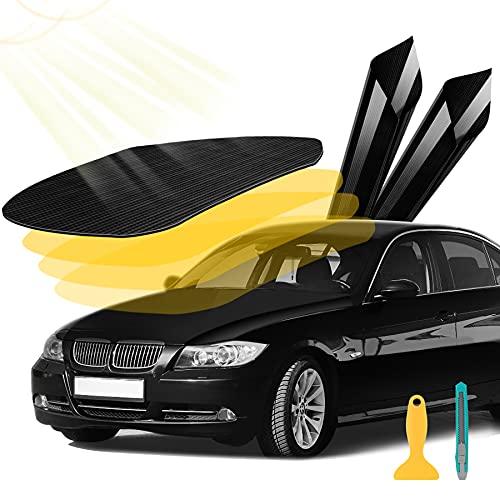YAOBLUESEA 5D Carbon Folie Autofolie selbstklebend flexibel Car Wrapping für Fahrzeug mit Auto DIY Dekoration Aufkleber 152x50cm Schwarz