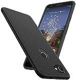 SunRemex Carbon Fiber Designed for Google Pixel 3a XL Case, Pixel 3a XL Case, Scratch Resistant & Anti Slip Grippy Soft TPU Case for Google Pixel 3a XL Phone (Black)