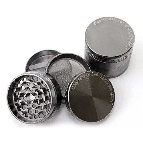 Chromium Crusher 2 Inch 4 Piece Tobacco Spice Herb Grinder - Gun Metal