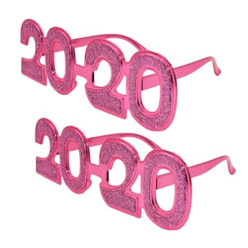 NUOBESTY - 4 gafas de sol para Ao Nuevo 2020 (cuatro colores), plstico, rosado, 20*13.8cm
