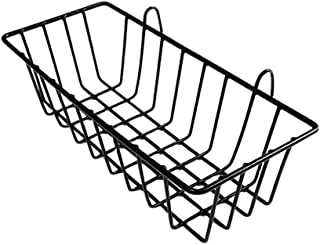 House of Quirk Grid Hanging Iron Basket Wall Mounted Decoration Innovative Flower Pot Shelf for Display Rack - Black