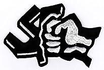 """Smash Fascism Aufnäher / Bügelbild / Iron on Patch """"Gegen Nazis"""""""