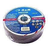 S&R 25 Discos de corte 125 Hierro Metal y Acero INOX .Set de 25 discos 125x 1 mm A60 S-BF para amoladora ángular