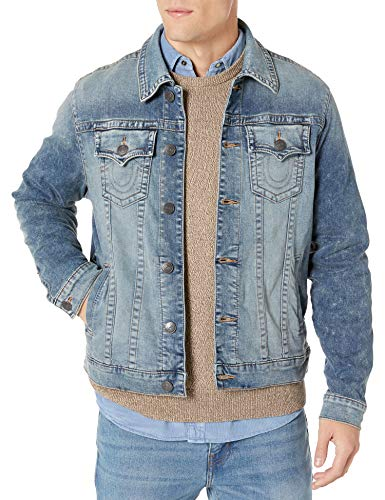 True Religion Men's Trucker Denim Jacket, Real Chill, S