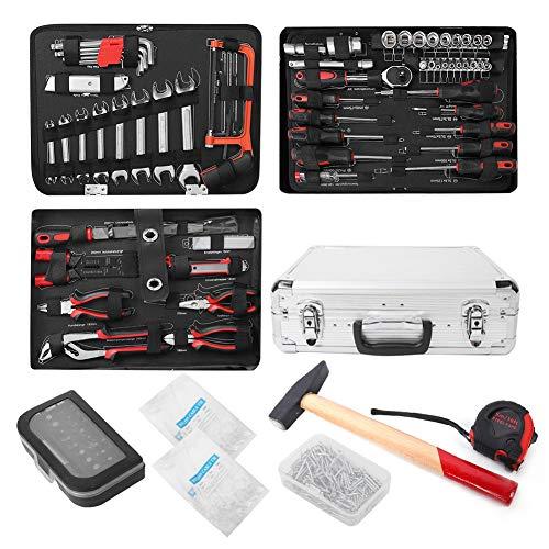 Cocoarm 500 Stück Kompletter Werkzeugkoffer Handwerkzeugset Werkzeugkasten Haushaltswerkzeugkit Handwerkzeug Werkzeugkoffer Professioneller Autowerkstatt-Werkzeugkasten