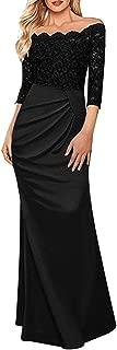 Women's Sexy Off Shoulder Formal Long Maxi Vintage Evening Party Bridesmaid Dress