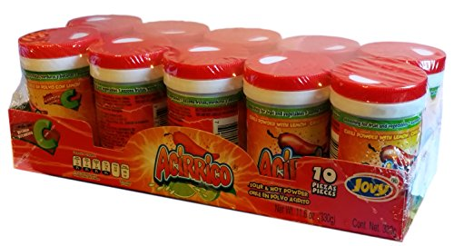 Jovy Acirrico Sour and Hot Chili Powder Candy with Salt and Lemon | Count 10 pieces