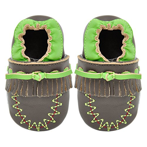 Momo Baby Boys Soft Sole Leather Shoes First Walker Toddler Crib Booties...