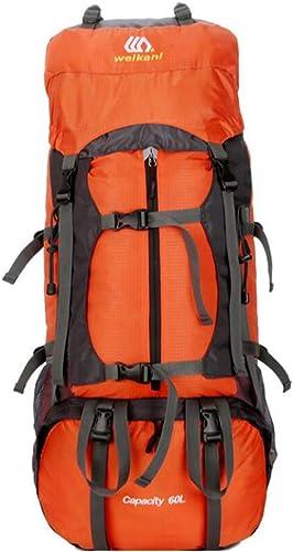 LXYIUN Sac à Dos De Voyage,Mouvement Extérieur Alpinisme Backpack Orange