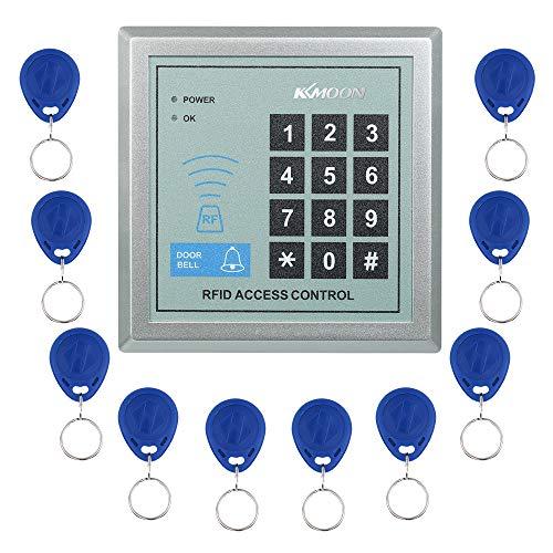 KKmoon Tür Zutrittskontrollsystem Sicherheit Tor Eintrag + 10 Schlüsselanhänger RFID Nähe Türeinstieg Access Control System