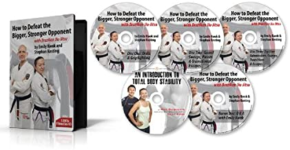 BJJ Instructional Video Set - How to Defeat the Bigger Stronger Opponent with Brazilian Jiu-Jitsu Series 1, by Emily Kwok and Stephan Kesting. Learn the Techniques, Tricks & Gameplans of a Black Belt World Champion