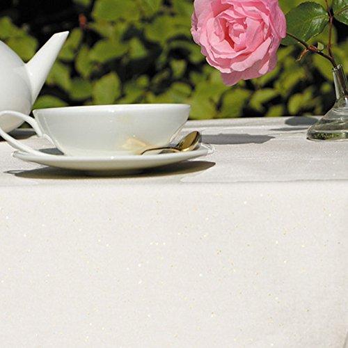 Nappe Rectangulaire anti-tache imperméable 160x240cm Paillette Or par Fleur de Soleil - coton enduit - sans solvant - sans phtalate - 100% fabrication française
