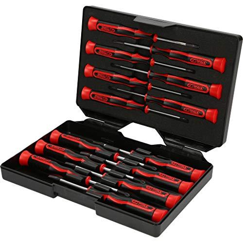 KS Tools 500.7170 Feinmechanik-Schraubendreher-Satz PH, Schlitz, TX, 14-tlg.
