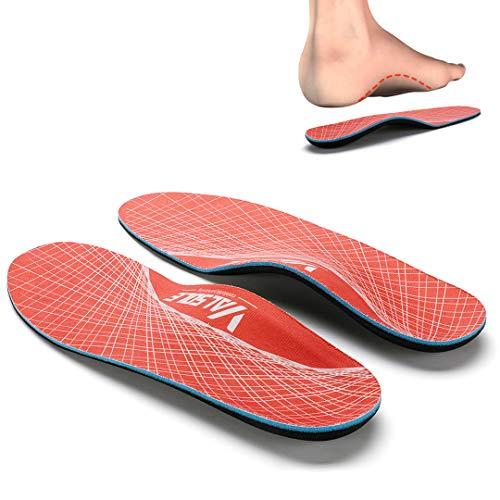 Zapatos Plantillas-Mujer-Hombre-arco-soporte Ortopédicas Plantillas Alivio del dolor en el pie para la fascitis plantar, pie plano, espolones en el talón (38-39 EU (250mm), Orange-V125)